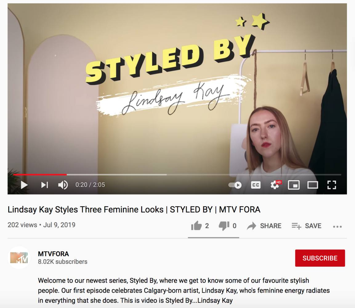 """MTV """"Styled By"""" (July, 2019)"""