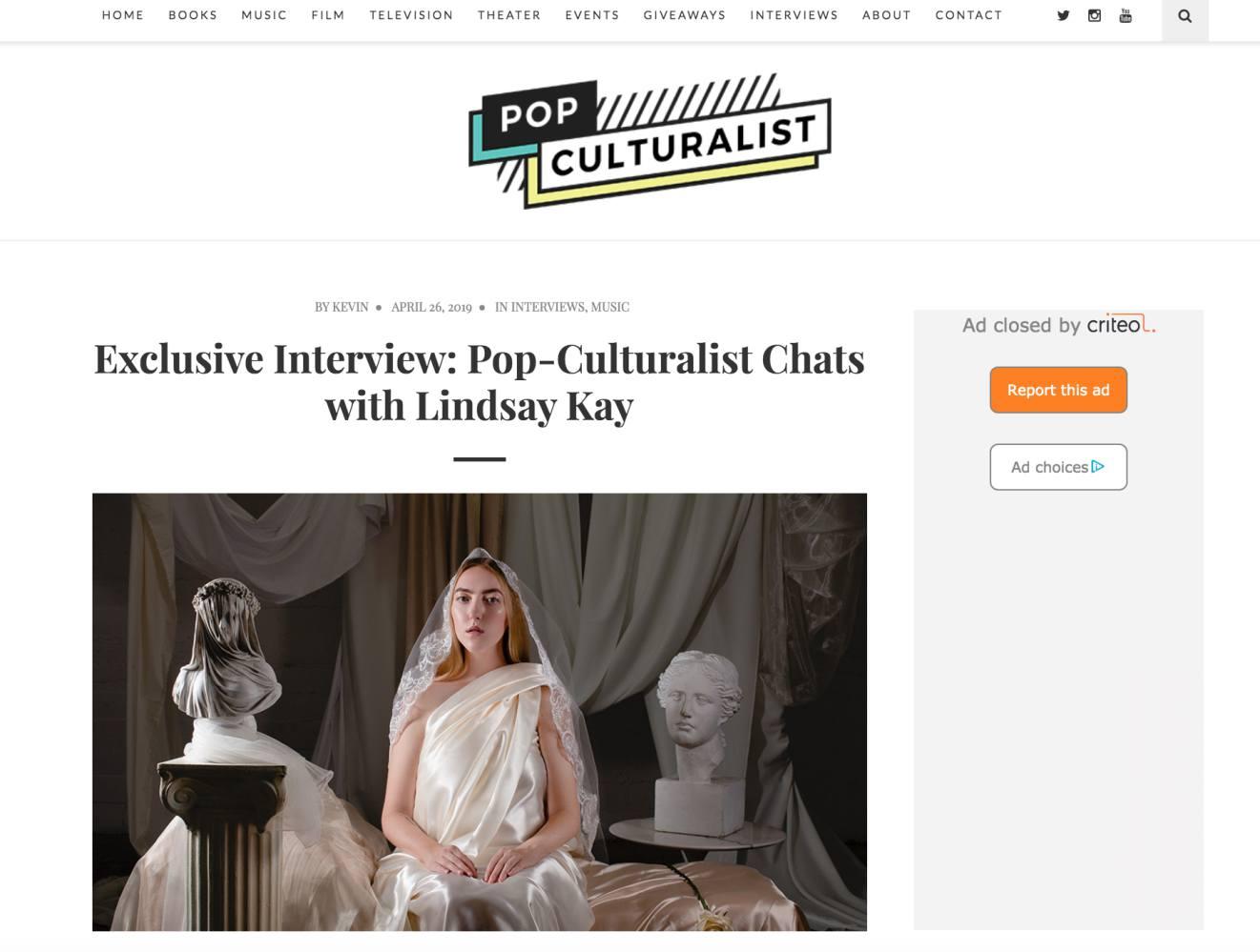 Pop Culturist (April, 2019)