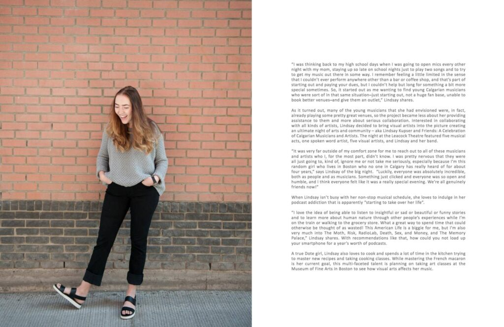 Interview and photo spread in Calgary culture magazine Dote Magazine – featured in print and online