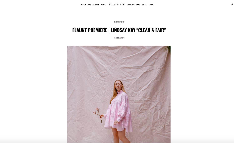 FLAUNT Magazine (Dec. 2019) *Clean & Fair premiere